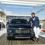 International Polo star Malcolm Borwick with Maserati Levante Royale - St. Moritz