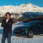 Slalom World Champion Giorgio Rocca with Maserati Levante Royale in St. Moritz (1)